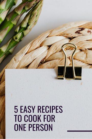 one person recipes