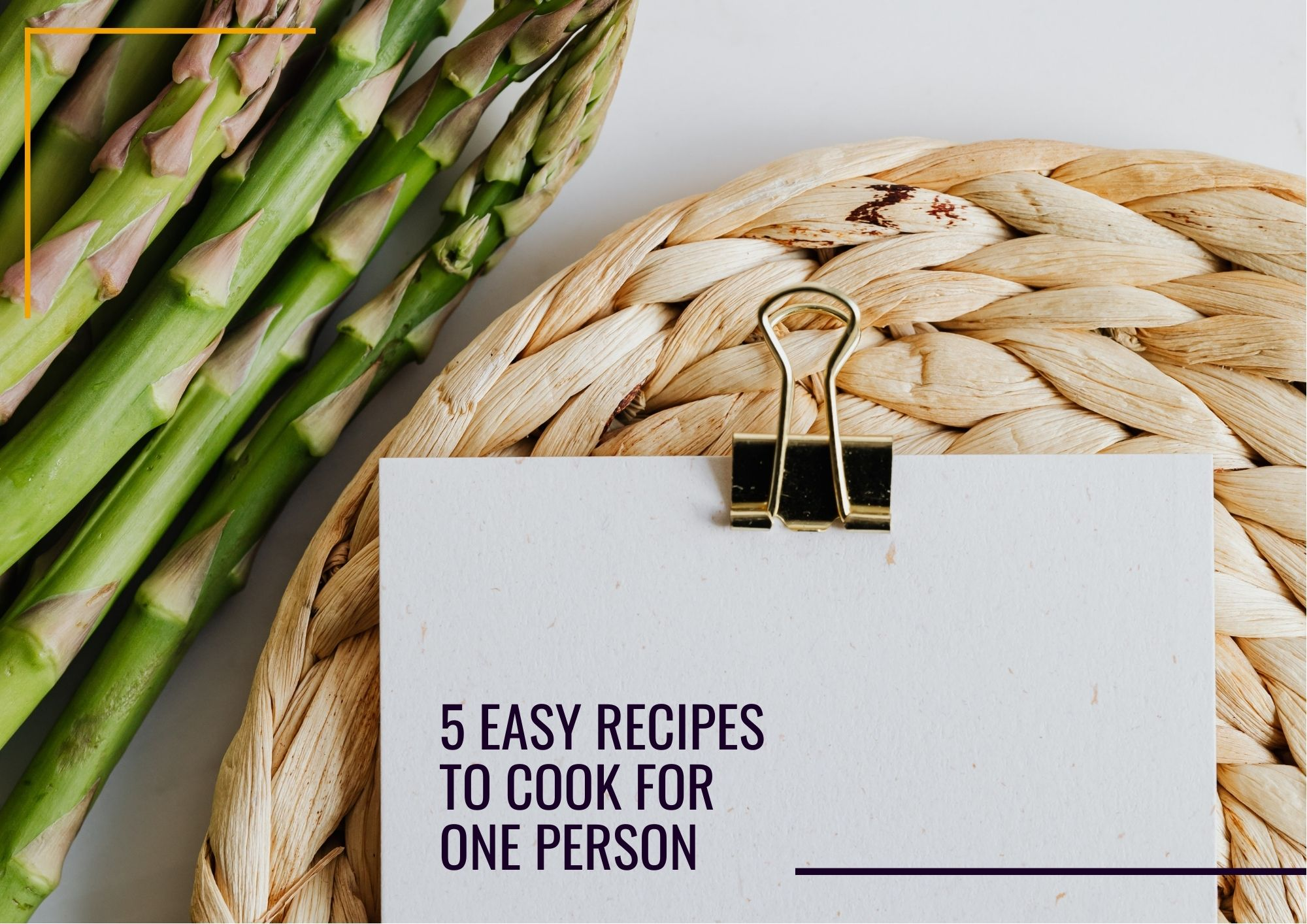 one person recipes